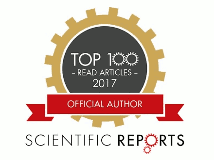 CogNovo publication in TOP 100 of Nature's Scientific Reports